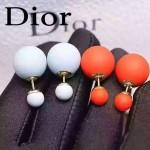 DIOR飾品-07-5 名媛必備新款經典款橙色大小磨砂珍珠耳釘