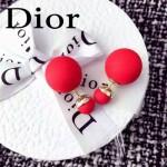 DIOR飾品-02-3 人氣熱銷女士經典款紅色磨砂大小珍珠耳釘