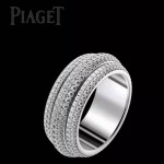 Piaget飾品-02 人氣爆款Possession施華洛世奇原石925純銀鍍鉑金轉運戒指
