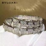 Bvlgari飾品-021 潮流爆款女士Serpenti系列滿鑽蛇形手鐲