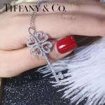 Tiffany飾品-02-5 最新專櫃女士925純銀鑲鑽鑰匙吊墜項鏈