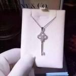 Tiffany飾品-02 最新專櫃女士925純銀鑲鑽鑰匙吊墜項鏈