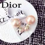 DIOR飾品-02-4 人氣熱銷女士經典款裸粉色大小珍珠耳釘