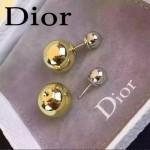 DIOR飾品-02 人氣熱銷女士經典款金配銀大小珍珠耳釘