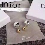 DIOR飾品-02-2 人氣熱銷女士經典款銀配金大小珍珠耳釘