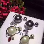 DIOR飾品-03 專櫃最新款女士電鍍18k大小珍珠鑲鑽耳釘
