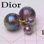 DIOR飾品-04-2 甜美少女風糖果系列隕石黑大小珍珠耳釘