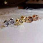 Bvlgari飾品-014-2 歐美百搭新款經典款羅馬數字鑲鑽耳釘