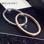 Bvlgari飾品-020 歐美百搭新款925純銀真空電鍍18k羅馬數字鑲鑽手鐲