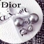 DIOR飾品-02-6 人氣熱銷女士經典款灰色大小珍珠耳釘