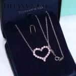 Tiffany飾品-06 官網同款女士新款大號桃心鑲鑽項鏈