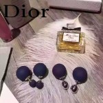 DIOR飾品-07 名媛必備新款經典款黑加侖紫大小磨砂珍珠耳釘