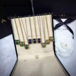 Bvlgari飾品-08 專櫃同款寶藍/翠綠/土黃色大理石鈦鋼款項鏈