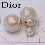 DIOR飾品-04-3 甜美少女風糖果系列珍珠白大小珍珠耳釘