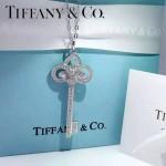 Tiffany飾品-02-3 最新專櫃女士925純銀鑲鑽鑰匙吊墜項鏈