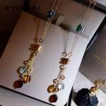 Bvlgari飾品-011 新款ZERO1電鍍18k黃金玫瑰金材質鑲嵌寶石吊墜項鏈