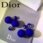 DIOR飾品-07-2 名媛必備新款經典款電光藍大小磨砂珍珠耳釘