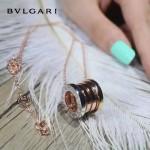 Bvlgari飾品-018 人氣熱銷新款經典款銀間金間玫瑰金彈簧項鏈
