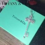 Tiffany飾品-02-2 最新專櫃女士925純銀滿鑽鑰匙吊墜項鏈