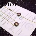 DIOR飾品-09 專櫃新款幸運之星925純銀高碳鉆電鍍18k黑色項鏈手鏈