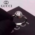 GUCCI飾品-02 歐美百搭新款Bamboo竹節系列925純銀鑽石戒指