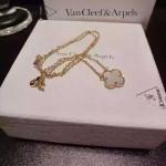 Van Cleef&Arpels飾品-02-4 時尚小清新女士925純銀K金裸粉四葉草項鏈