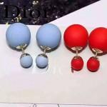 DIOR飾品-07-4 名媛必備新款經典款淺藍色大小磨砂珍珠耳釘