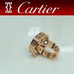 CARTIER飾品-014-2 潮流情侶款925純銀經典款螺絲帶鑽戒指