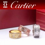 CARTIER飾品-012 歐美百搭流行love系列18k齒輪轉動滿鑽戒指