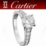 CARTIER飾品-018 高貴奢華女士Soliraire 1895鑲鑽訂婚戒指