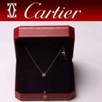 CARTIER飾品-013 潮流熱銷單品女士925純銀經典款單鉆項鏈