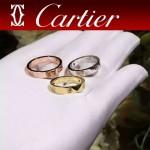 CARTIER飾品-016 時尚經典款LOVE系列寬窄版本帶鉆無鉆戒指