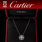 CARTIER飾品-011 人氣熱銷新款女士925純銀18k單鉆項鏈