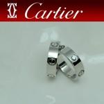 CARTIER飾品-014 潮流情侶款925純銀經典款螺絲帶鑽戒指