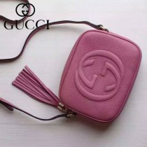 Gucci 308364-02 人氣熱銷時尚款Soho Disco流蘇皮斜跨包經典款相機包