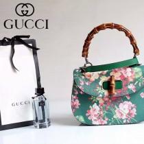 Gucci 409893 專櫃時尚新款印花系列竹節手提包
