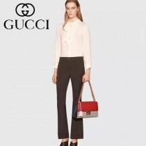 Gucci 409487-06 人氣熱銷潮流時尚款padlock系列大瑣扣大號鏈條包