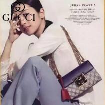 Gucci 409487-03 人氣熱銷潮流時尚款padlock系列大瑣扣小號鏈條包