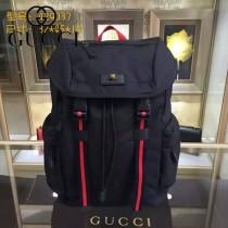 GUCCI 429037-2 時尚新款男士Techpack黑色帆布大容量雙肩包