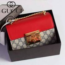 Gucci 409487-04 人氣熱銷潮流時尚款padlock系列大瑣扣小號鏈條包