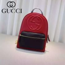 Gucci 431570-05 專櫃時尚新款進口軟質牛皮中號雙肩包
