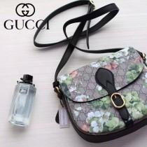 Gucci 432150-01 專櫃時尚新款天竺葵印花系列斜挎包