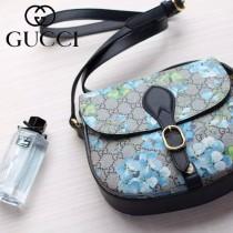 Gucci 432150 專櫃時尚新款天竺葵印花系列斜挎包