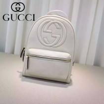 Gucci 431570-04 專櫃時尚新款進口軟質牛皮中號雙肩包