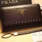 普拉達-02 爸爸節特價男士休閒手拿包