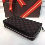 LV N41503-4 商務男士ZIPPY XL黑色棋盤格原版皮多功能手包錢包