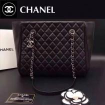 CHANEL 0514-2 秋冬季新款女士黑色原版羊皮單肩購物袋