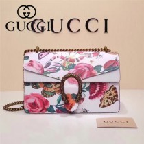 Gucci 400249-023 歐美時尚新款dionysus系列天竺GG塗鴉系列小號酒神包