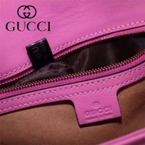 Gucci 443497-04 專櫃原版皮新款小牛皮Marmont系列仿鹿皮內襯單肩包