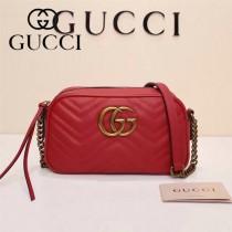 Gucci 447632-03 專櫃時尚新款My Good Life進口小牛皮Marmont相機包